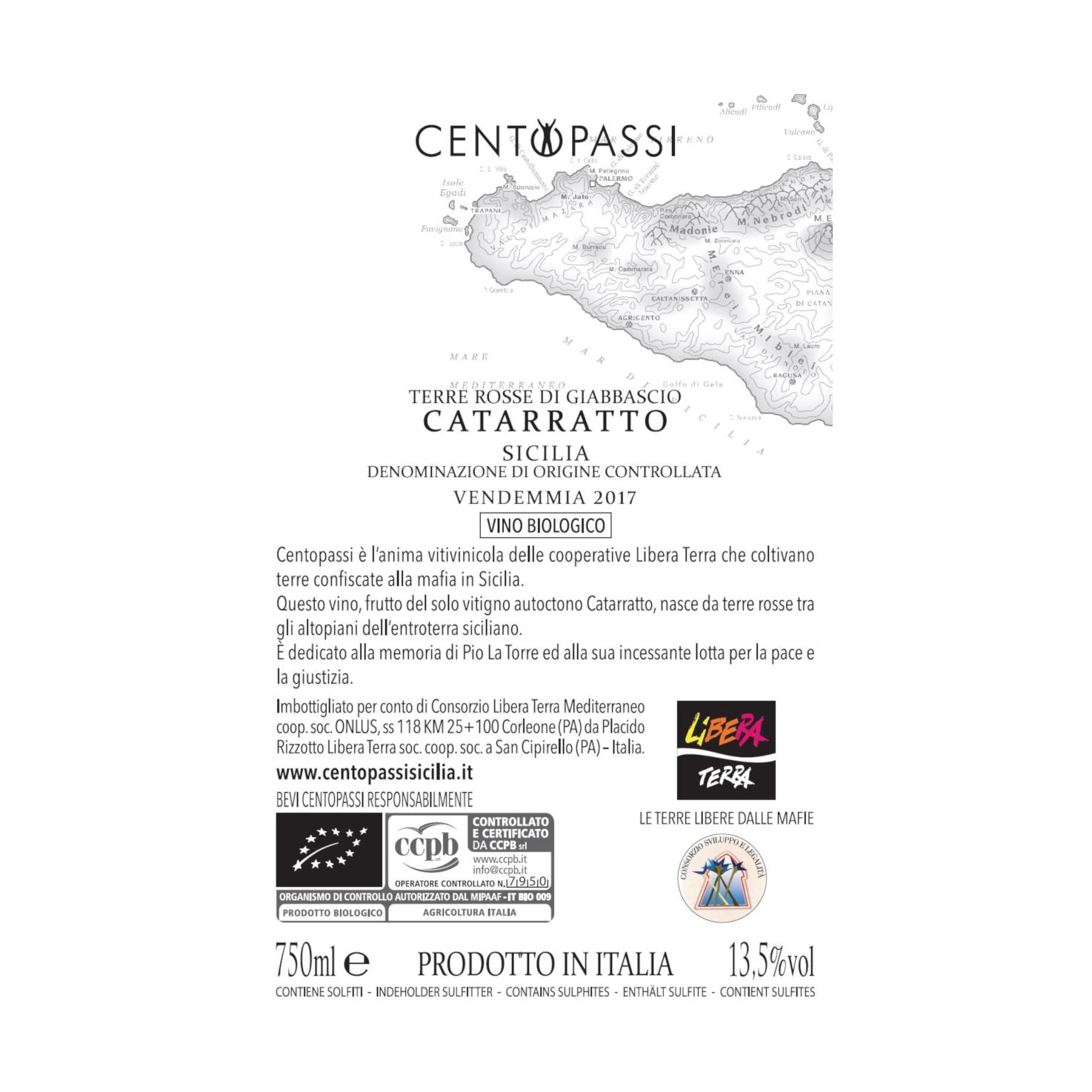 Catarratto – Terre Rosse Di Giabbascio – DOC Sicilia 2017 75cl