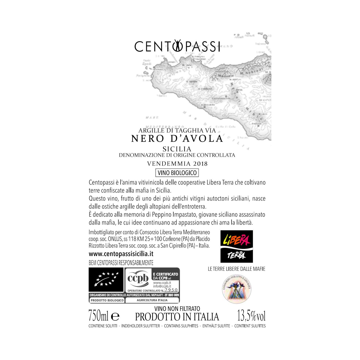 Nero d'Avola – Argille di Tagghia Via – DOC Sicilia 2018 75cl