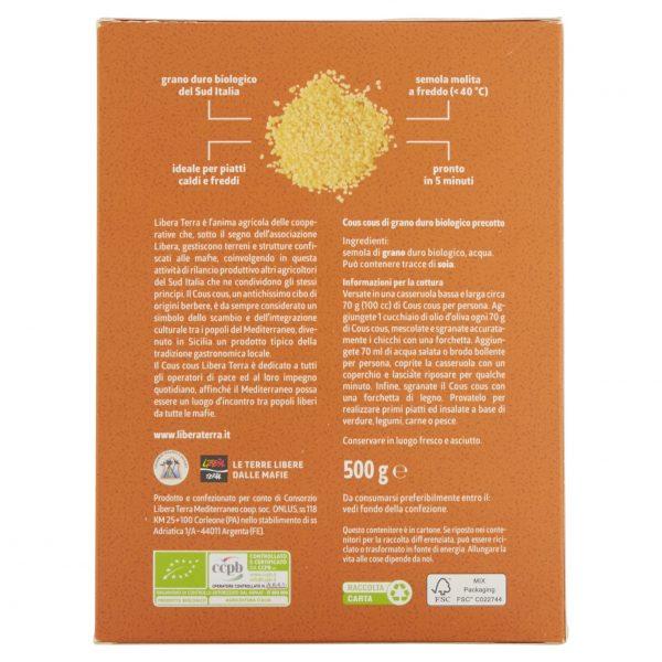 Cous Cous di Grano Duro Biologico 500g