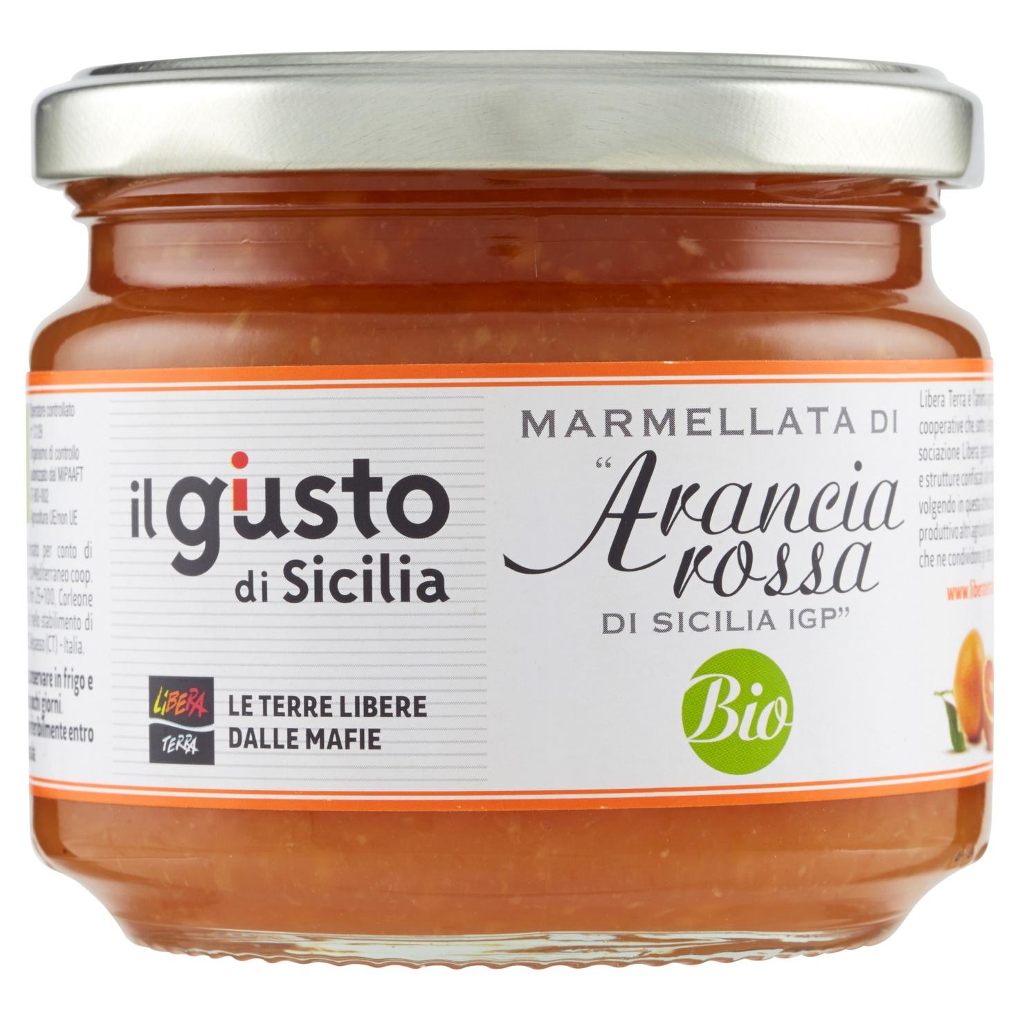 """Marmellata di """"Arancia Rossa di Sicilia IGP"""" Biologica 270g"""