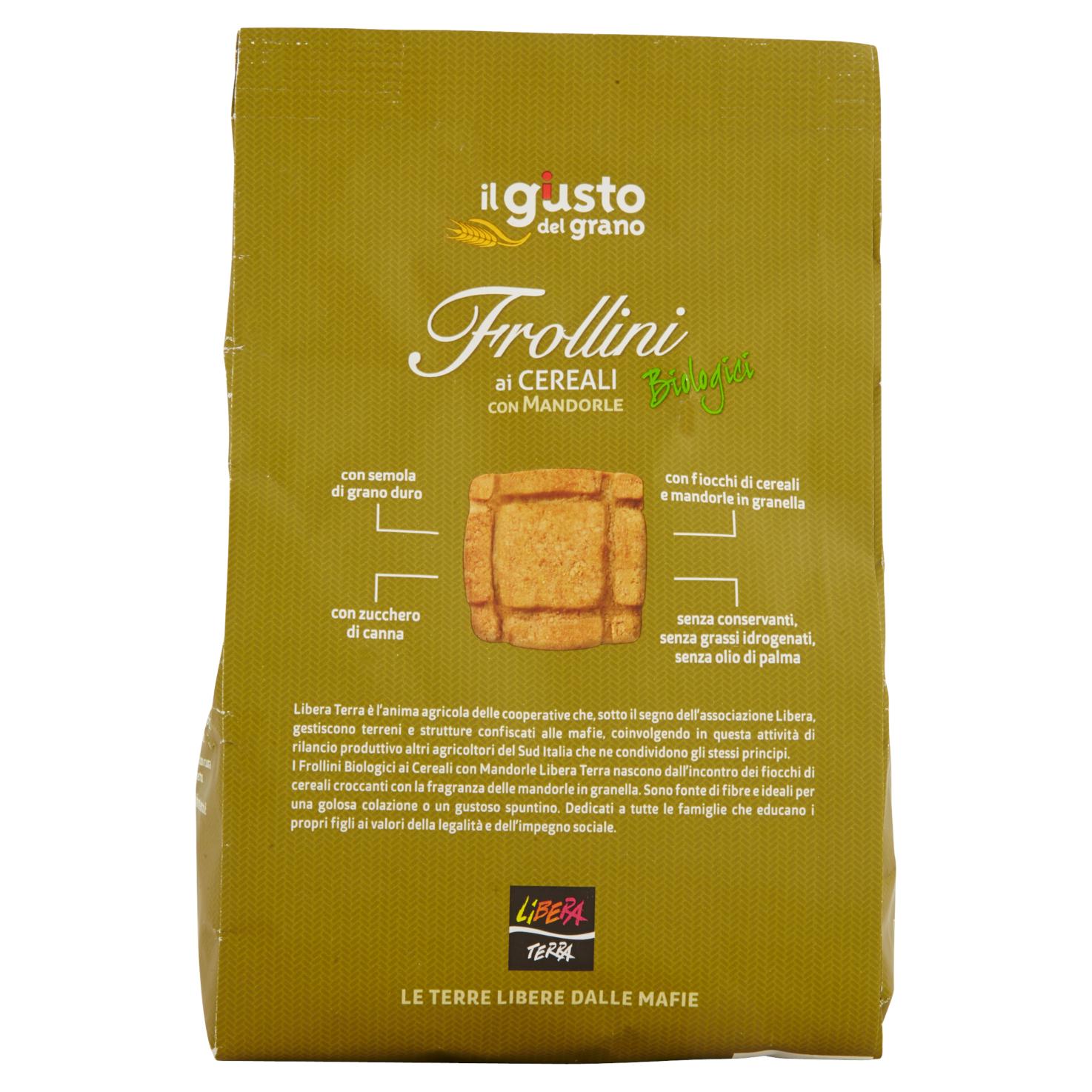 Frollini Biologici ai Cereali con Mandorle 300g