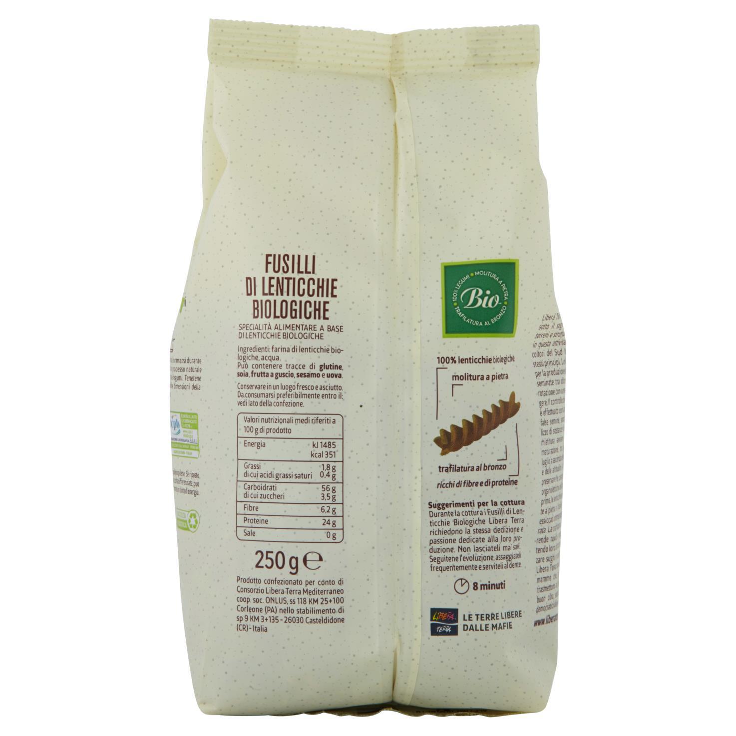Fusilli 100% Lenticchie Biologiche 250g