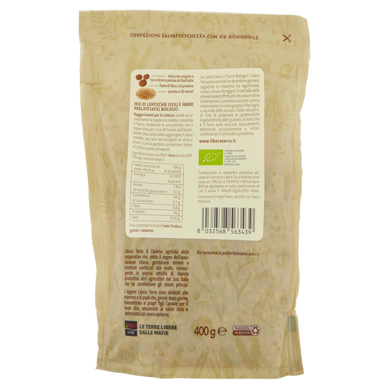 Zuppa di Lenticchie e Farro Perlato Biologica 400g