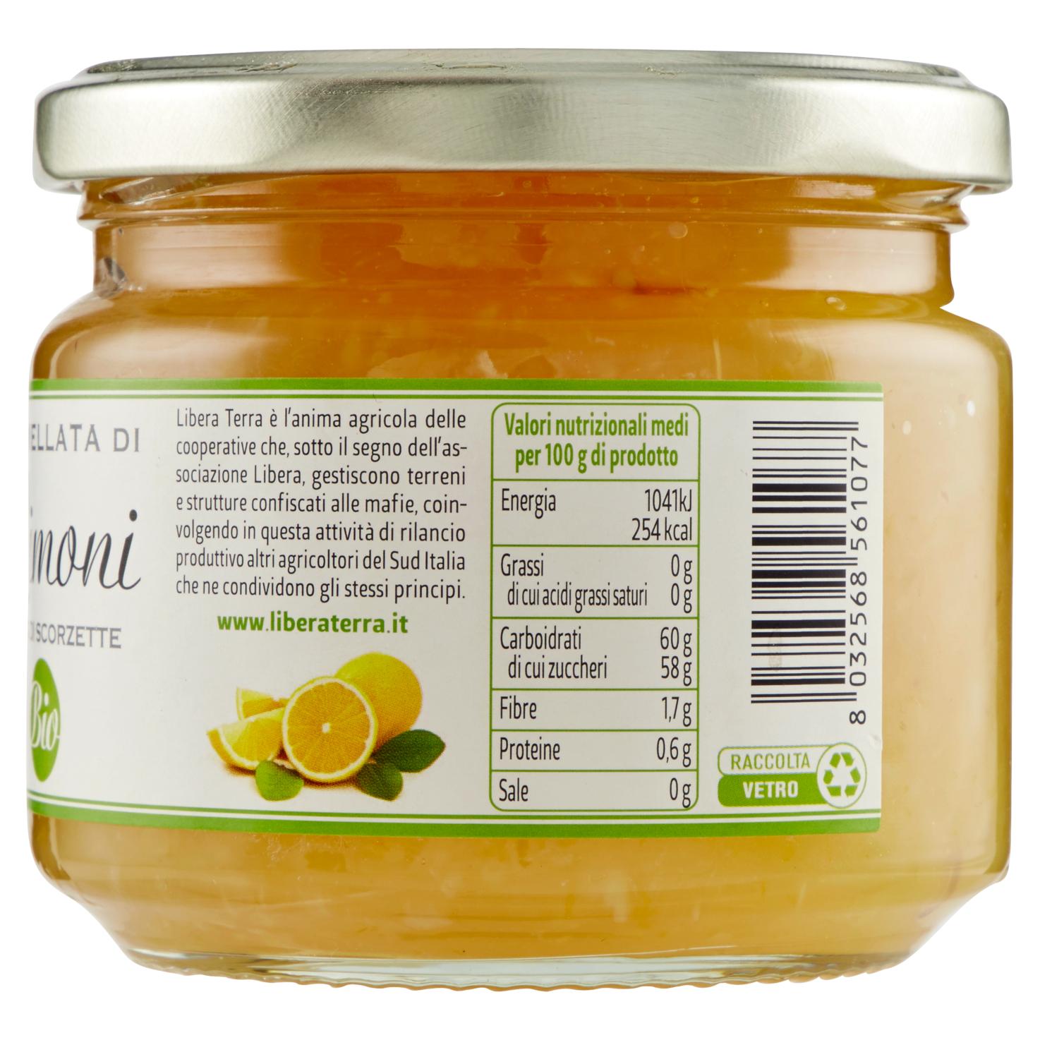 Marmellata di Limoni Biologica 270g