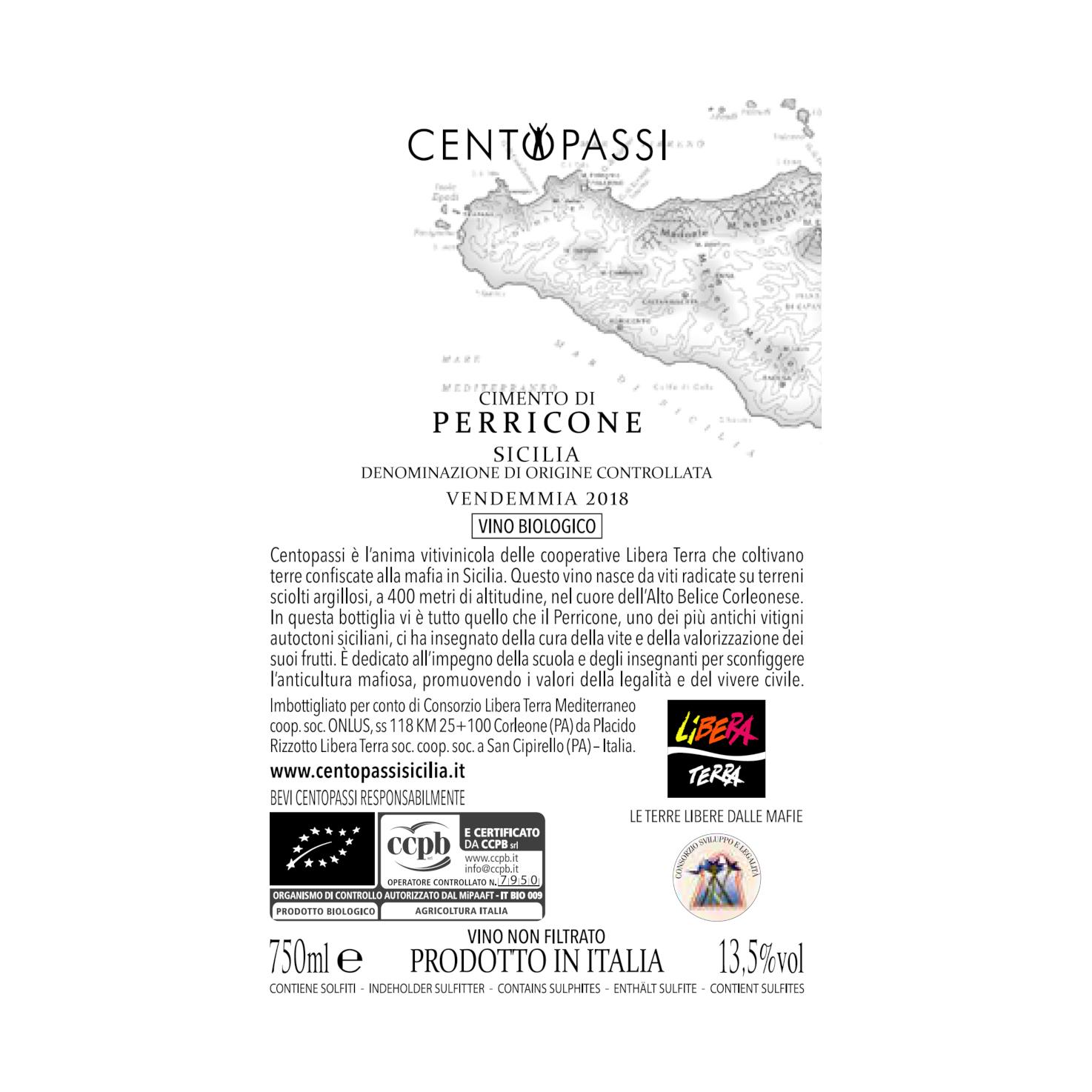 Perricone – Cimento di Perricone – Terre Siciliane IGT 2018 75cl