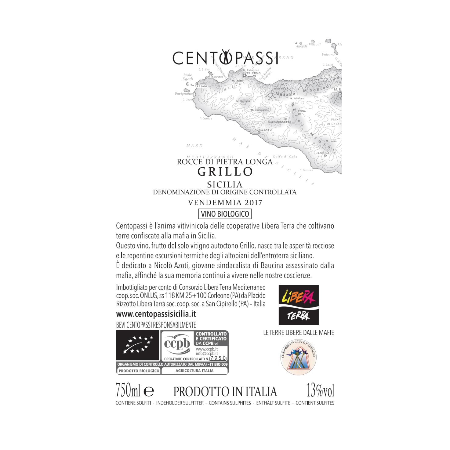 Grillo – Rocce Di Pietra Longa – DOC Sicilia 2018 75cl