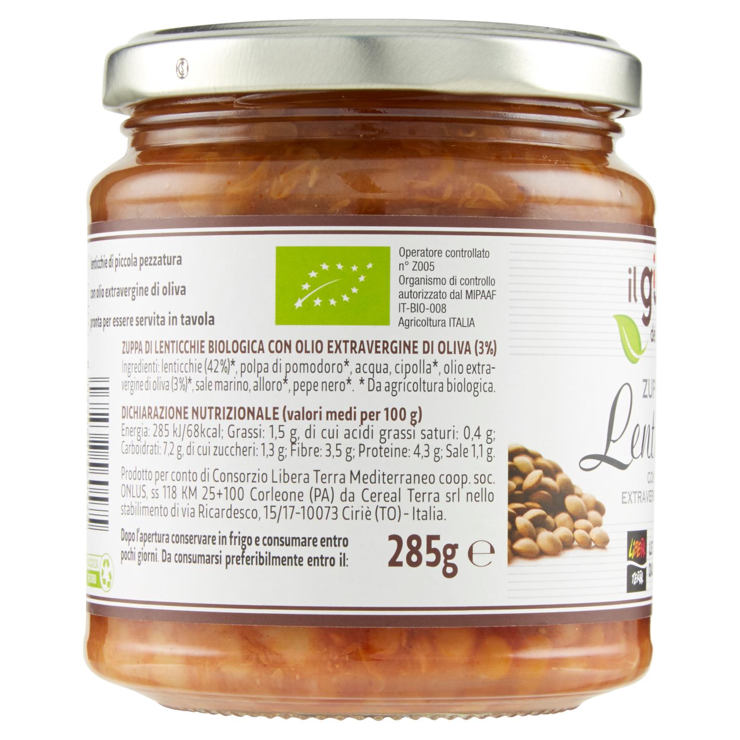 Zuppa di Lenticchie Biologica 285g