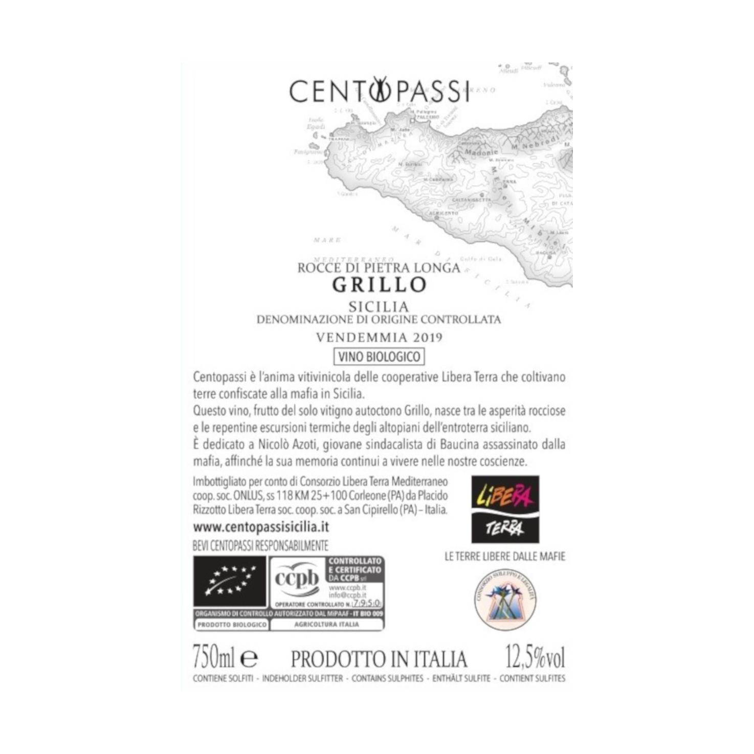 Grillo – Rocce Di Pietra Longa – DOC Sicilia 2019 75cl