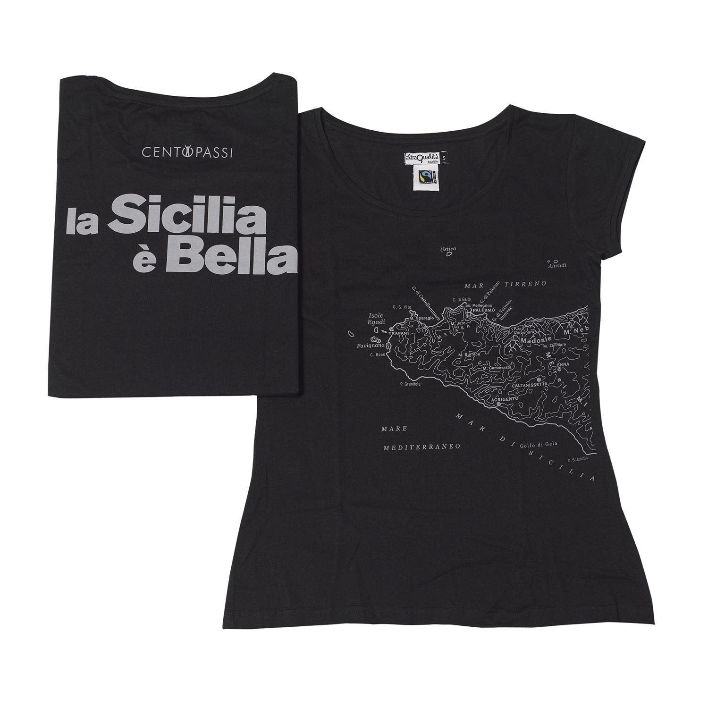 T-shirt Donna Centopassi La Sicilia è Bella